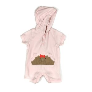 🔥10/$20 Old Navy Pink Hooded Romper 0-3m